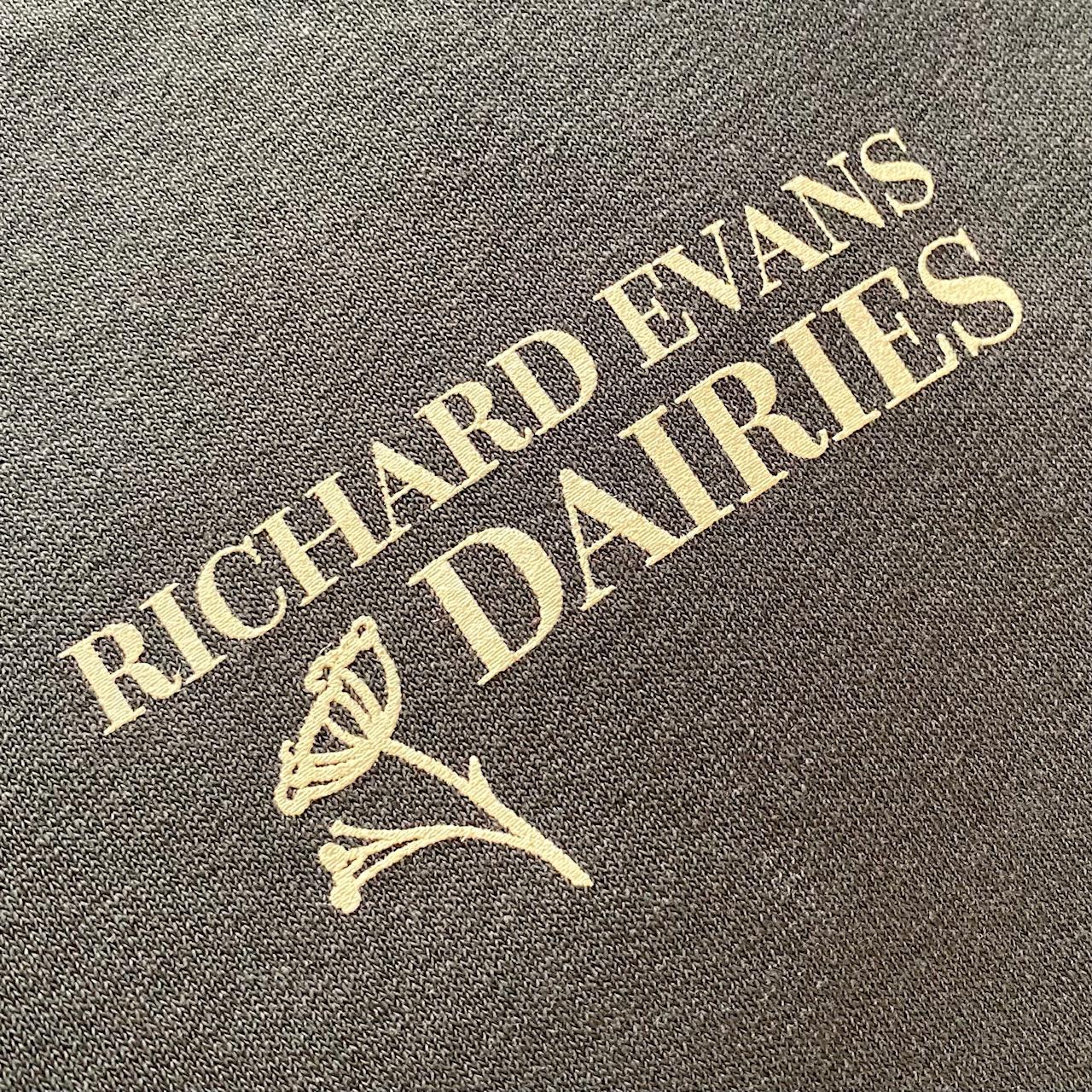 Richard Evans Dairies Screen printed sweat shirts